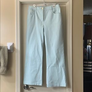 St Johns Sport aqua cotton spandex jeans